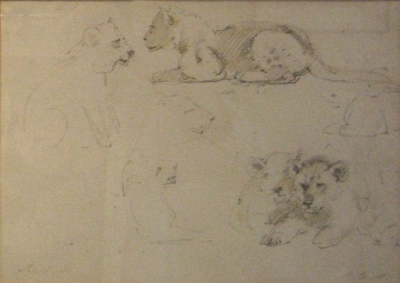 The Lion Cubs 1885. William Strutt.
