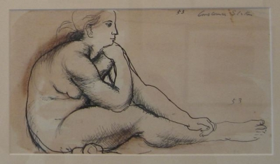 Seated Nude 1953. Constance Stokes.
