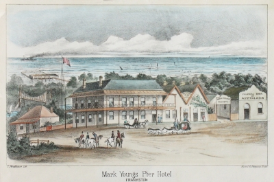 Mark Young's Pier Hotel, Frankston 1888. Clarence Woodhouse.