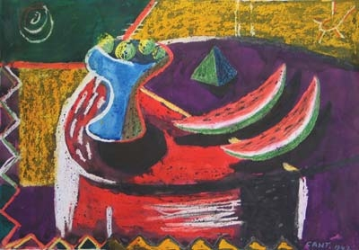 Still life with Watermelon 1947. James Cant.