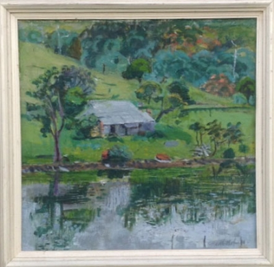 Homestead by the River c1940s. Edith Holmes.