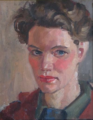 Self Portrait in Red Jacket. Dora Chapman.