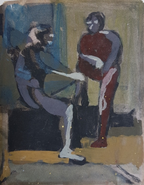 Two Figures 1956-58. Carl Plate.