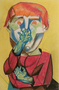 Man with Hand over Mouth 1947. Clifford Bayliss.