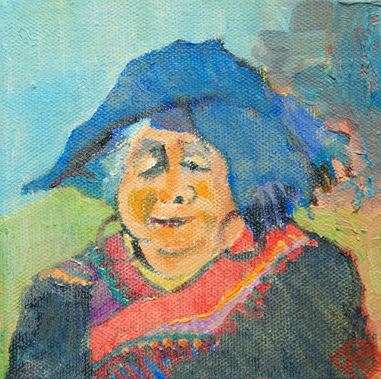 Old Vietnamese Woman in Hill Tribe Costume. Kay Stewart.