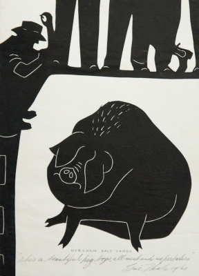 """""""She's a beautiful pig boys, all meat and no pertaters"""" 1960. Eric Thake."""