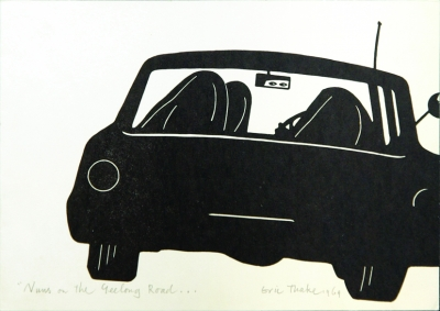 """Nuns on the Geelong Road ….Oil Sheiks to Bahrein?"""" 1969. Eric Thake."""