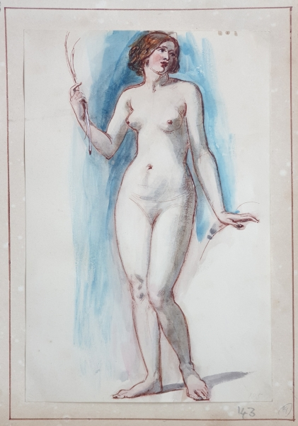 Standing Nude. William E. Frost R. A.