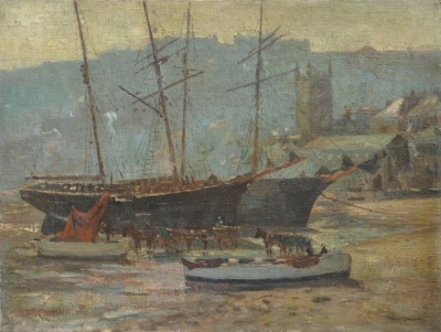 Fishing Boats, St. Ives. Charles Bryant.