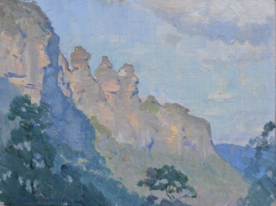 The Three Sisters, New South Wales 1924. Robert Campbell.