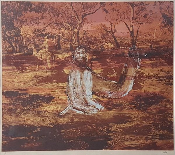 Burke and Wills Expedition IV 1975. Sidney Nolan.