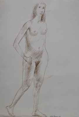Standing Nude 1962. Clifford Bayliss.