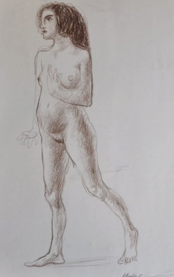 Standing Nude 1960. Clifford Bayliss.