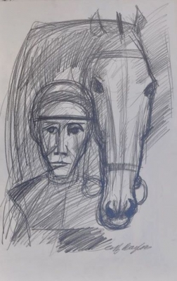Horse and Jockey. Clifford Bayliss.