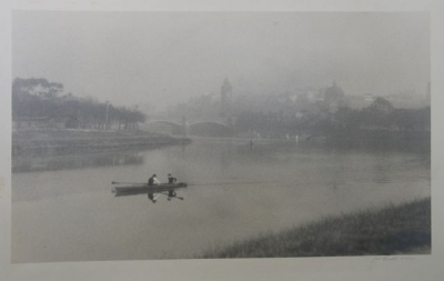Distant View of Melbourne from the Yarra c 1920s. John B. Eaton.