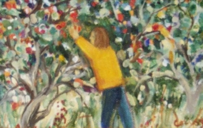 Picking Apples. Ceci Cairns.