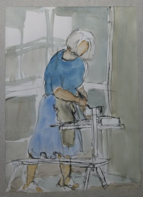 Janet Borchdadt Working. Joan Henry.