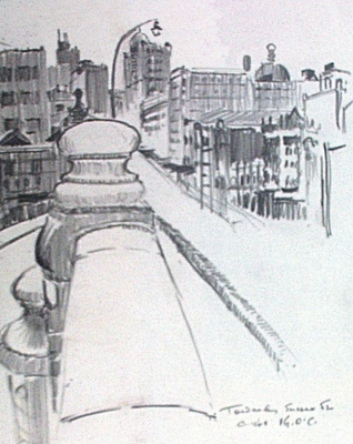 Towards Sussex St. c1968. Vic O'Connor.