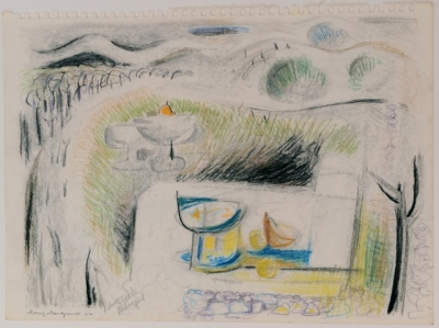 Still Life with Landscape Beyond 1962. Mary Macqueen.