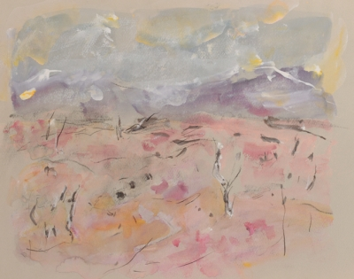 Outback Landscape c1970. Mary Macqueen.