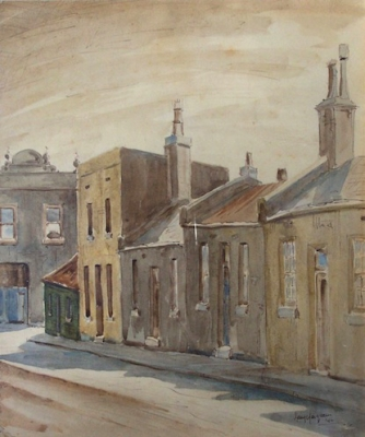 Fitzroy Houses 1944. Mary Macqueen.