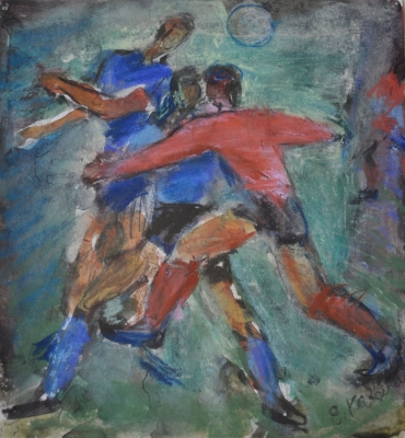 Football, The Tackle, 1962. Evgeni Kazmin.