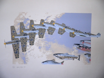 Untitled (Planes and Fish) 1975. Andrew Trollope.