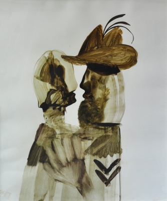 Corporal and Girl 1961. Sidney Nolan.