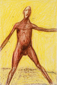 Leaping Man Series, Yellow 1961. Clifford Bayliss.