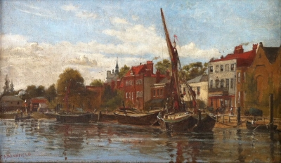 The Wharf, Chiswick c1893. Frank A. Winkfield.