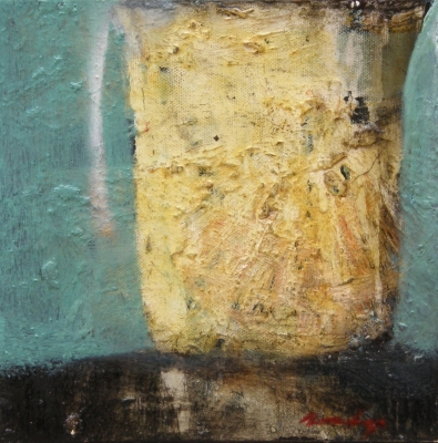 Encrusted Jug with Reflections. Richard Dunlop.