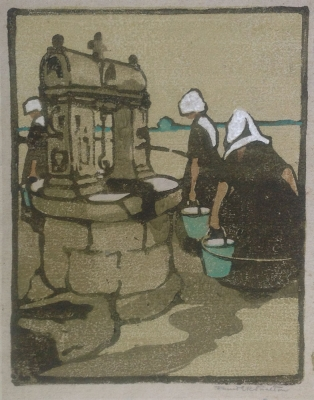 Well at Locmariaquer, France 1925. Janet E. R. Stratton.