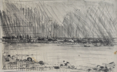From Williamstown, Smoggy Day 1963. Vic O'Connor.