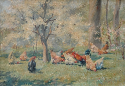 Chickens in the Woods 1937. Sandor Nagy.