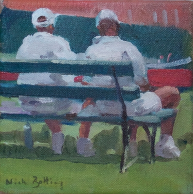 Tennis Players Resting, Queens. Nick Botting.