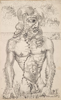 Torso with Chain of Tears and Aviator c1945. Clifford Bayliss.
