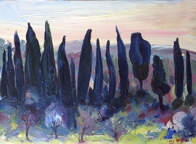 Cypress Pines, Tuscany. Lucy Boyd.