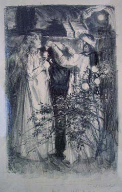 On a summer night, the spell. Archibald S. Hartrick.