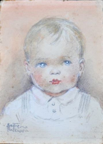 Portrait, Baby c1930s. Betty Paterson.