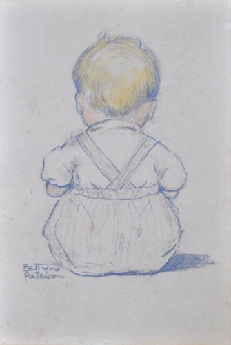 Sketch, Baby c1930s. Betty Paterson.