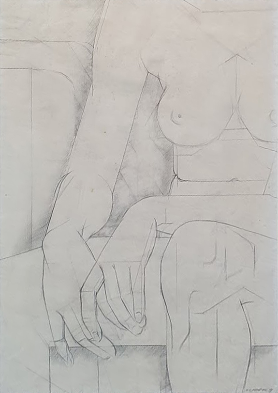 Seated Nude 1937. Frank Hinder.