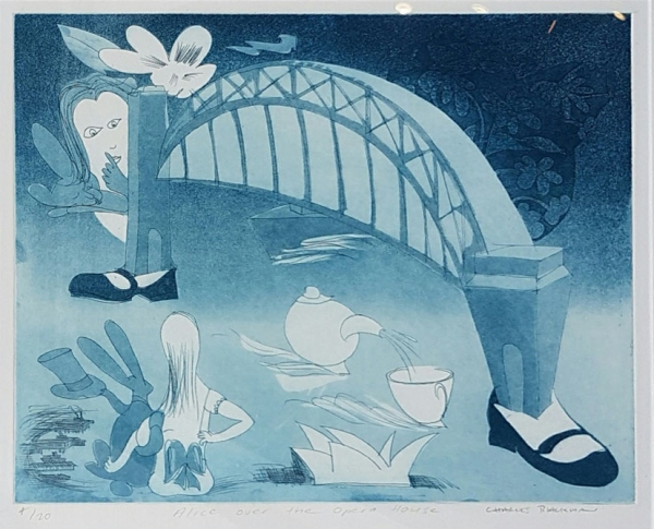Alice Over the Opera House. Charles Blackman.