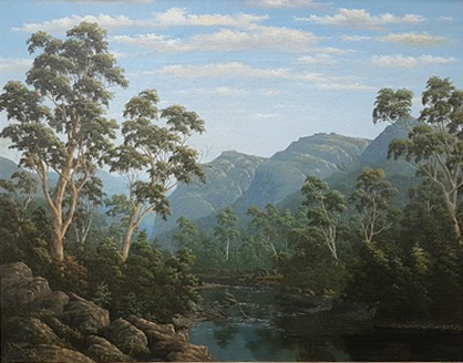 Typo Rocks and Rose River, Victoria 1887. John Stirling Moore.