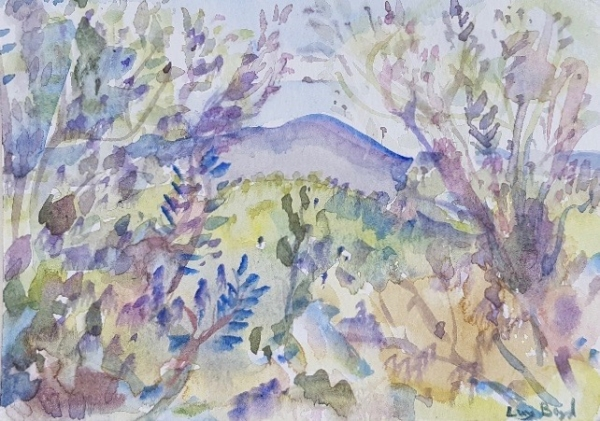 Through the Trees, Tuscan Landscape (Tuscan Postcard III) 2017. Lucy Boyd.