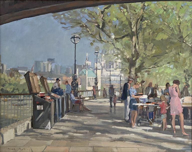 Bookseller on the South Bank, London. Nick Botting.
