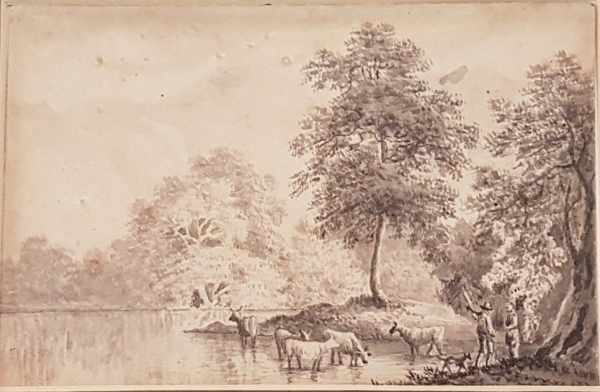 Cattle by a Stream. John Glover.
