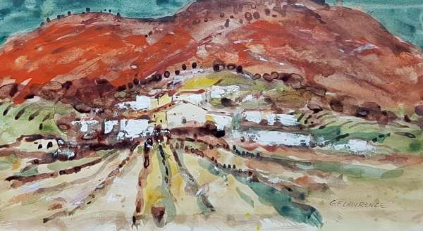 Red Mountains, Spain. George F. Lawrence.