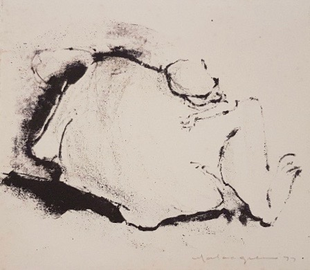 Gorilla with Baby 1977. Mary Macqueen.
