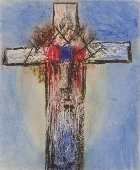Crucifix with Crown of Thorns 1956. Sidney Nolan.