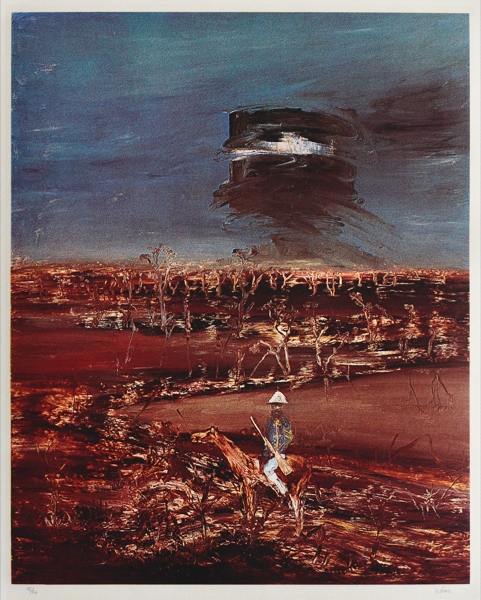 Kelly and Policeman. Sidney Nolan.